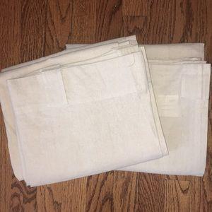 Two linen curtain panels light cream 80x46
